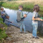 waterdiertjes vangen en vissen in de boven-regge